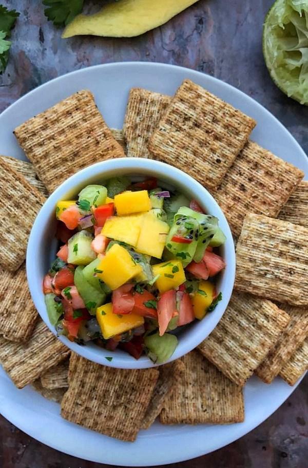Fresh Mango Kiwi Salsa