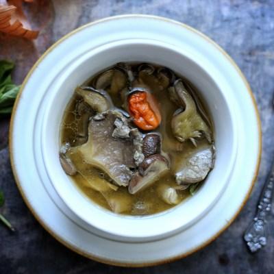 Mushroom Pepper Soup w/ Oyster & Cremini mushrooms