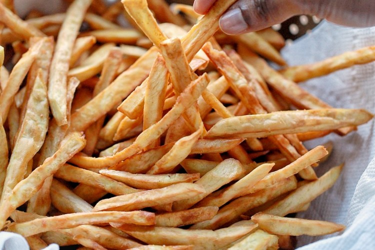 Spicy Japanese Sweet Potato Fries