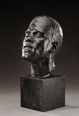"""""""Buste d'africain"""" by Renee Vautier"""