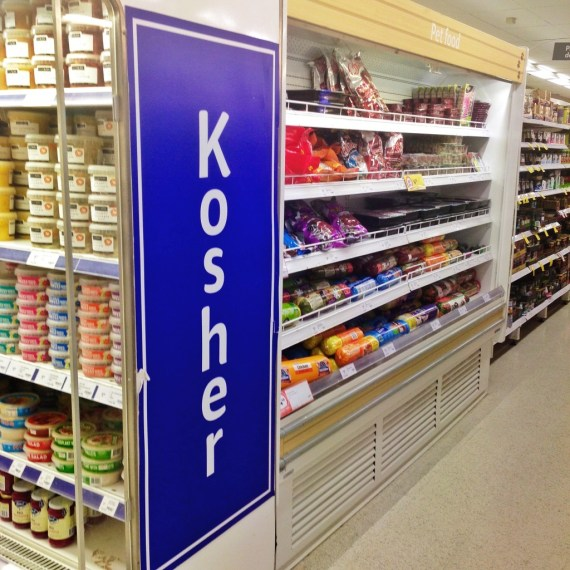 Kosher food on sale in a Coles store in Sydney's Eastern Suburbs is more an exercise in marketing.