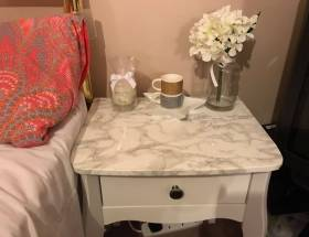 DIY Marble Bedside Table