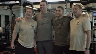 Vid: Special Warfare memorial workout with UFC Champs Dustin Poirier and Forrest Griffin