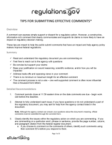 NLRB Comment Tips