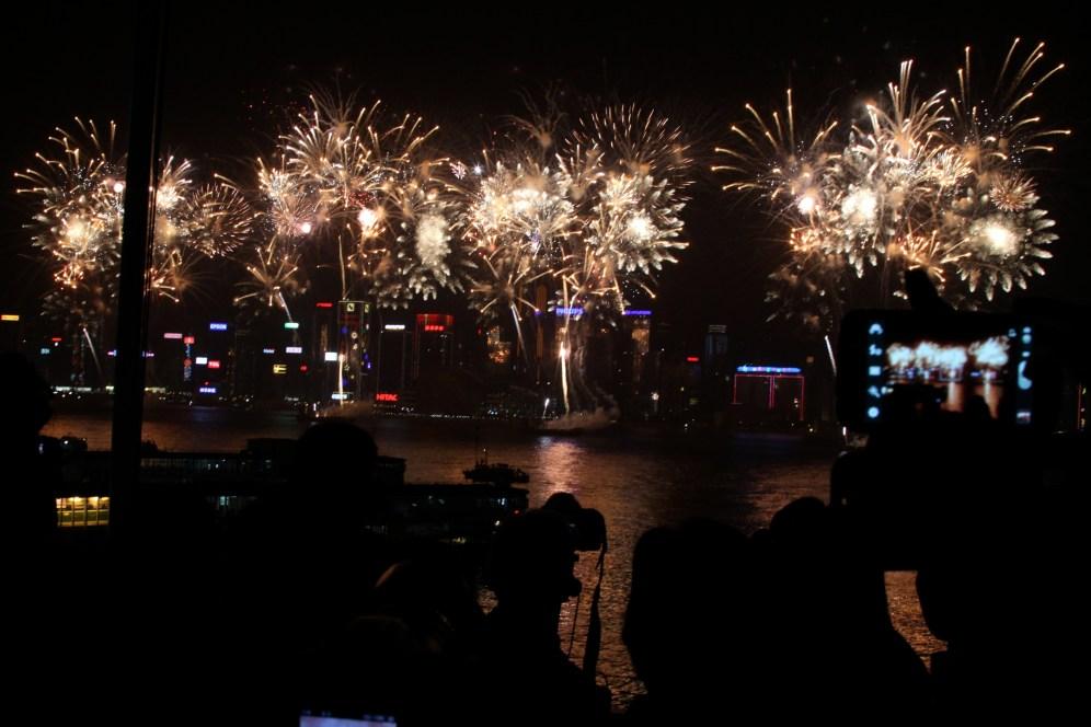 fireworks on the harbor.