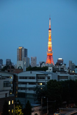 Tokyo Tower from Roppongi.