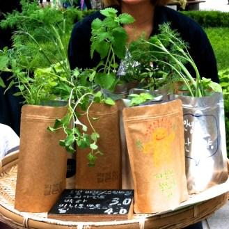 bag herbs.