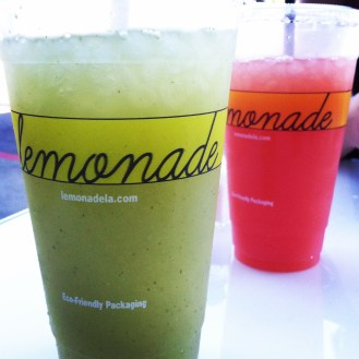 cucumber-mint and blood orange lemonade.