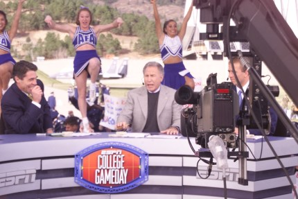 ESPN College Gameday visited the Air Force Academy in 2001. (Air Force Academy photo)