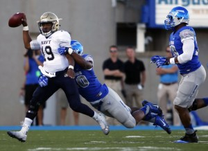 Navy hosts Air Force on Oct. 3 in the first football game of 2015 between service academies. Air Force won last year's showdown, 30-21. (USA Today Sports photo by Chris Humphries)