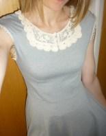 Refashioned grey dress