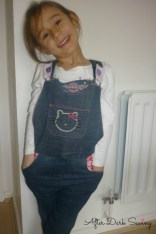 Dungarees made from upcycled jeans