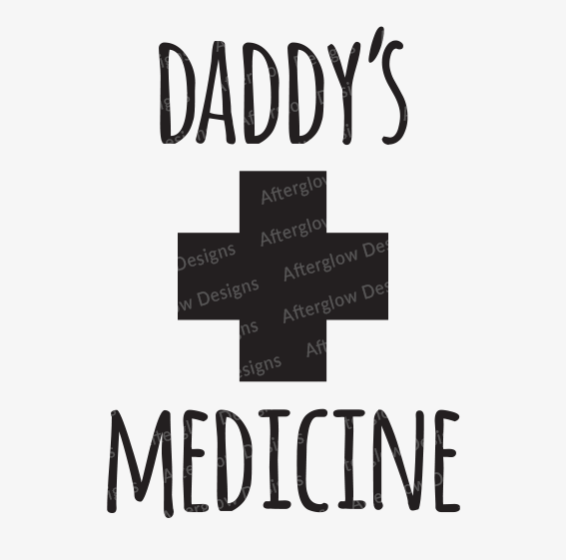 """Daddy's Medicine"" Graphic in Black"