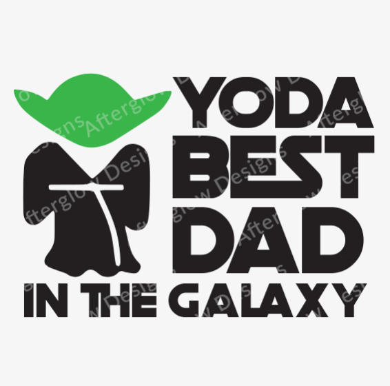 """Yoda Best Dad in the Galaxy"" Graphic"