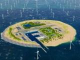 Geplante Energieinsel von Tennet in der Nordsee.