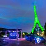Wasserstoff / Brennstoffzelle Toyota ließ den Eiffelturm grün aussehen