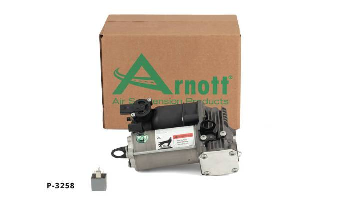 The Arnott Air Suspension Compressor P-3258, which fits the Mercedes-Benz 2012-2016 ML-Class (W166 Chassis) and 2013-2016 GL-Class (X166 Chassis), is a direct replacement for the original OE compressor from Mercedes-Benz.
