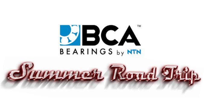 This image says BCA Bearings Summer Road Trip.