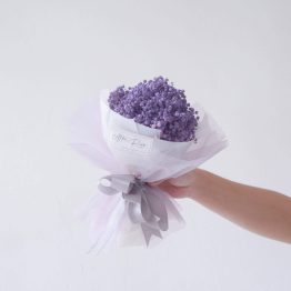 Dried Purple Baby Breath Bouquet by AFTERRAINFLORIST