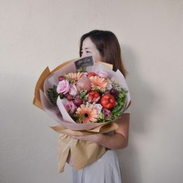 Pink Series - Delicate Pink Buah Bouquet by AFTERRAINFLORIST
