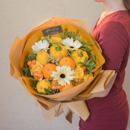 Orange Series - Warm Orange Buah Bouquet by AFTERRAINFLORIST