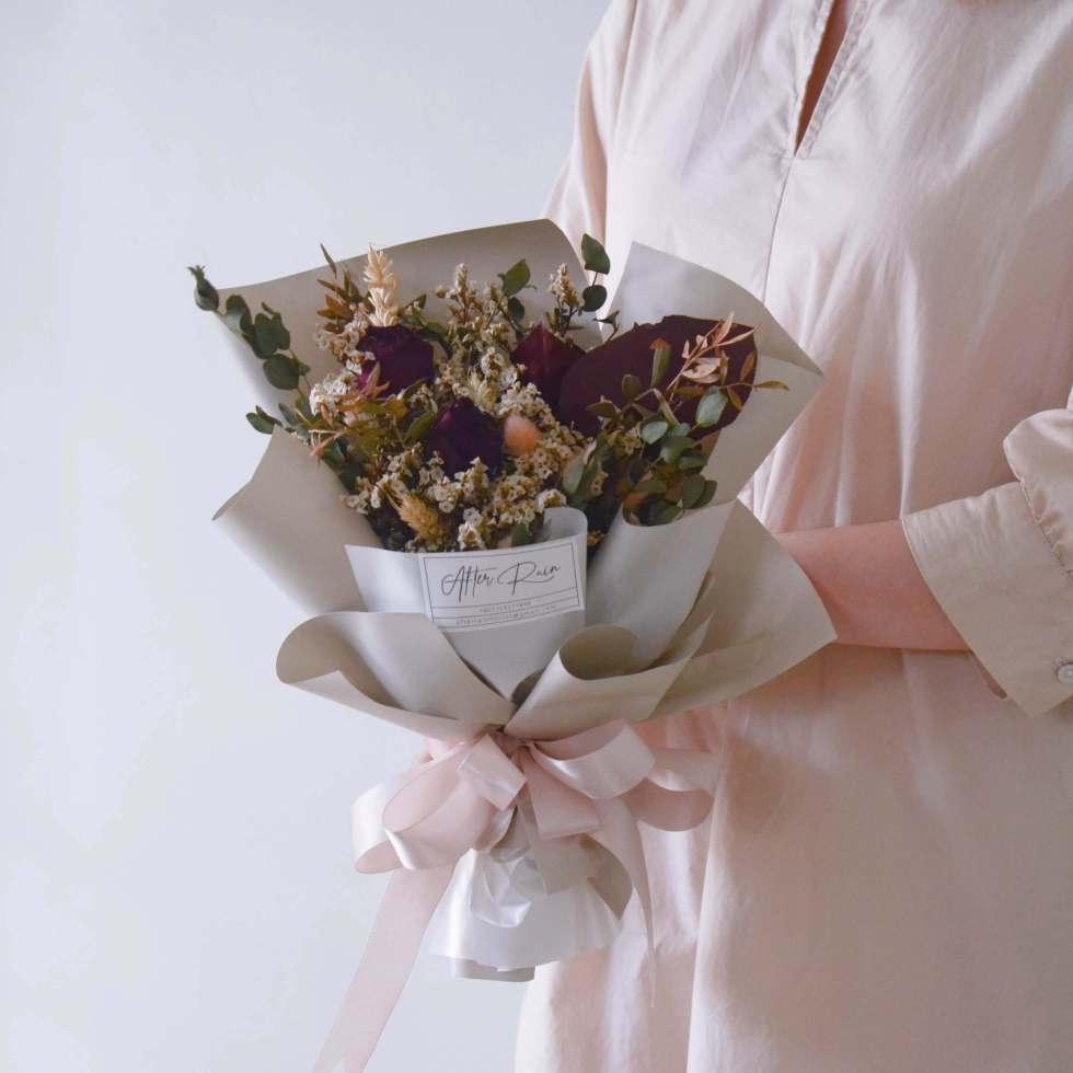 Vintage style Dried Bouquet by AfterRainFlorist, PJ Florist