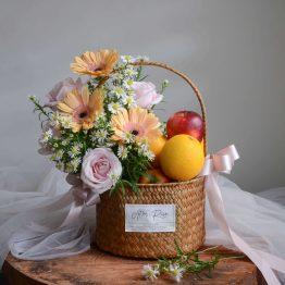 Yippee Pastel Flower & Fruit Basket by AfterRainFlorist, PJ Florist
