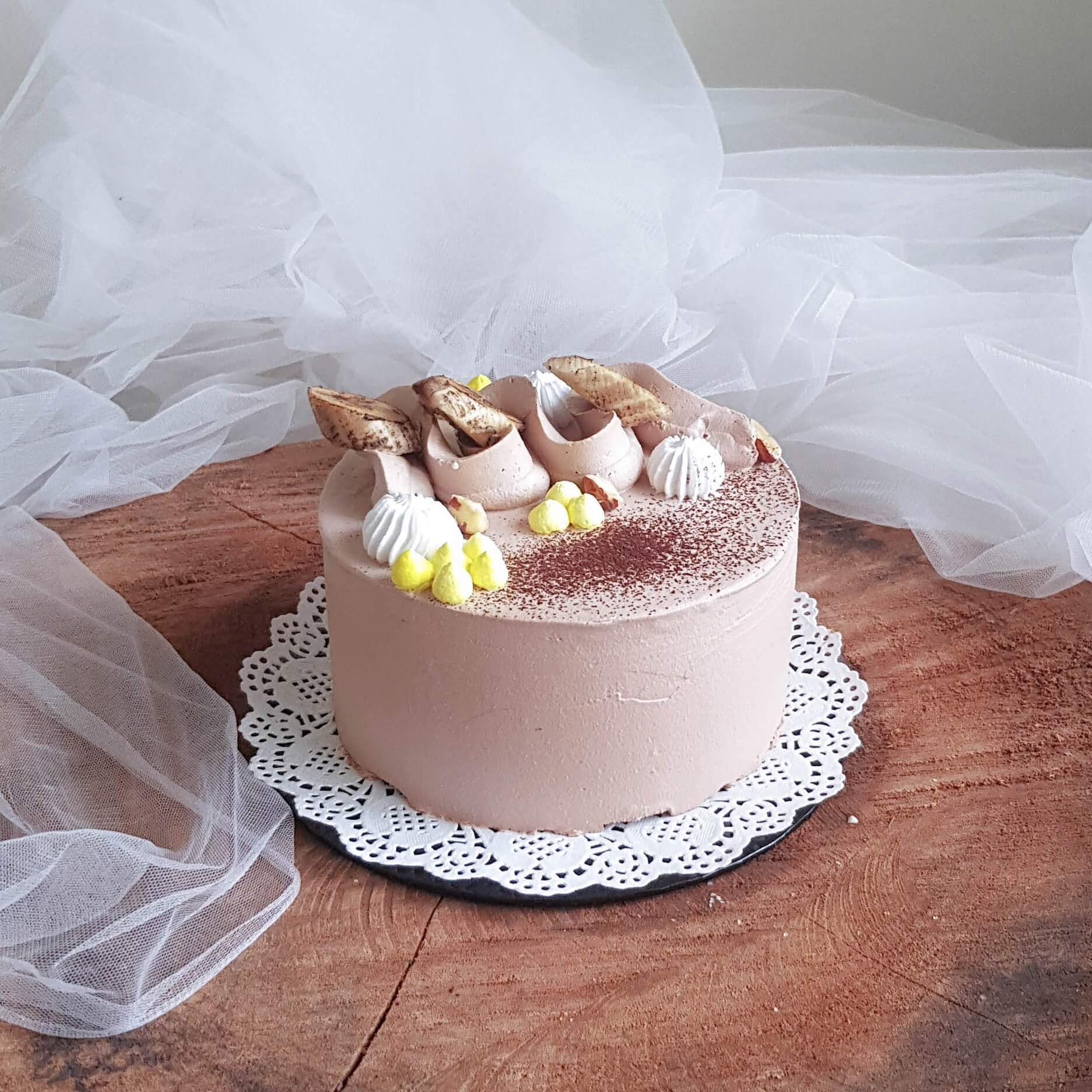 [collaboration] Banana & Chocolate Cake by Bake the Dream X AfterRainFlorist, PJ FLorist, KL & Selangor Flower Delivery Service