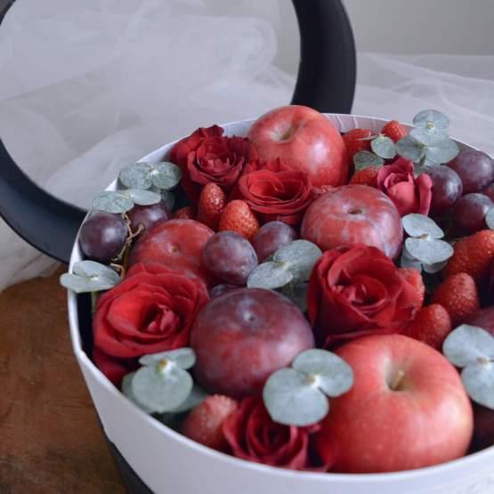 Red Happy Gift Reddy Love Fresh & Healthy Fruit Basket gift by AfterRainFlorist, PJ Florist, KL & Selangor(Klang Valley) Flower Delivery Service