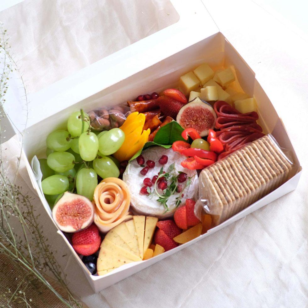 AfterRainFlorist X Graze Kelly Cheese & charcuterie Cheese platter M-Box 4
