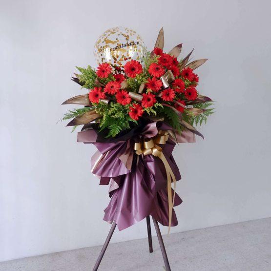 Red Gerbera Prosperity Opening Fresh FlowerStand by AfterRainFLorist, PJ (Malaysia) Florist,KL & Selangor / Klang Valley Flower Delivery Service