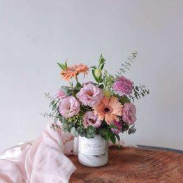 Get Well Soon Sweetest Table Vase Fresh Flower Arrangement by AfterRainFLorist, PJ (Malaysia) online Florist,KL & Selangor / Klang Valley Flower Delivery Service
