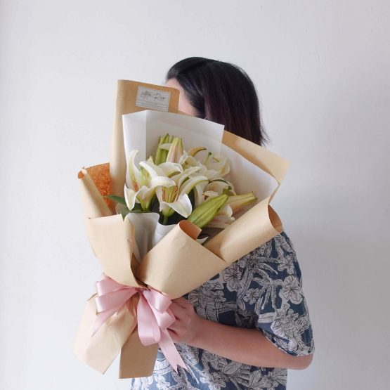 Mother's Day 2021 Classic Lily Fresh Flower Bouquet by AfterRainFLorist, PJ (Malaysia) online Florist,KL & Selangor / Klang Valley Flower Delivery Service