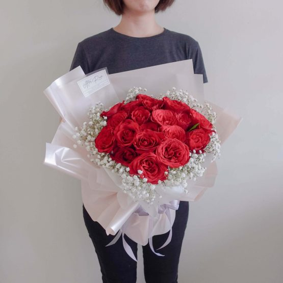 Valentine's Day VDAY 2022 Rose with Baby Breath Bouquet by AfterRainFLorist, PJ (Malaysia) online Florist,KL & Selangor / Klang Valley Flower Delivery Service