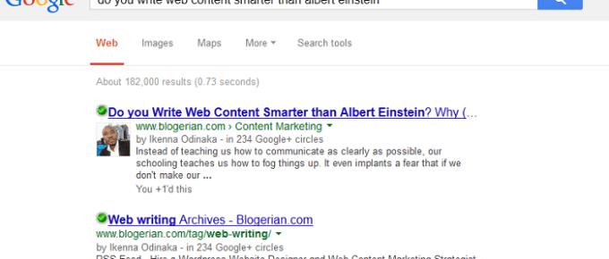 Google Authorship for writers