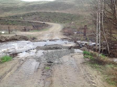 Barker, driveway flooding (2)