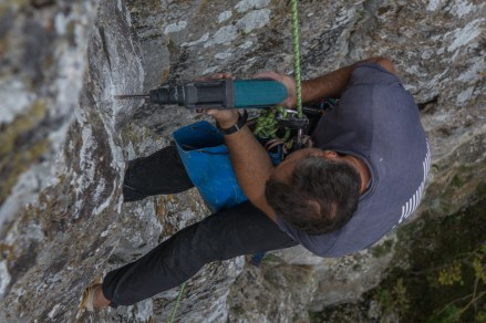 Rich drilling a brand new route.