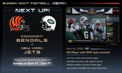 NBC Sports SNFExtra Week 17: CIN-NYJ < Live Streaming
