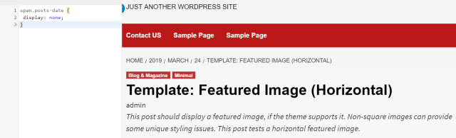 remove post date in CoverNews