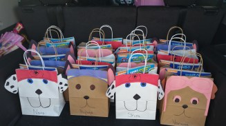 The three designs of gift bags we did. Marshall, Chase, Marshall (again) and Sky.