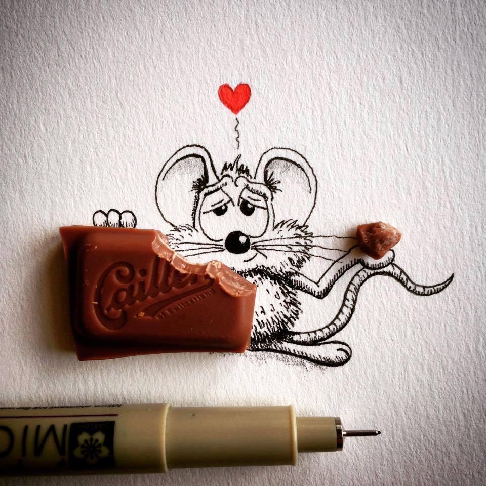 Souris Qui Mange Du Chocolat Afunnymoment