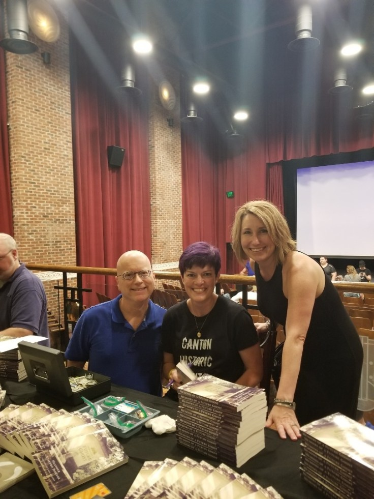 My editor, Wayne, and fellow author, Sheryl, at my inaugural book signing!