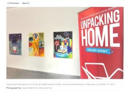Unpacking Home exhibition in the Vancouver Sun