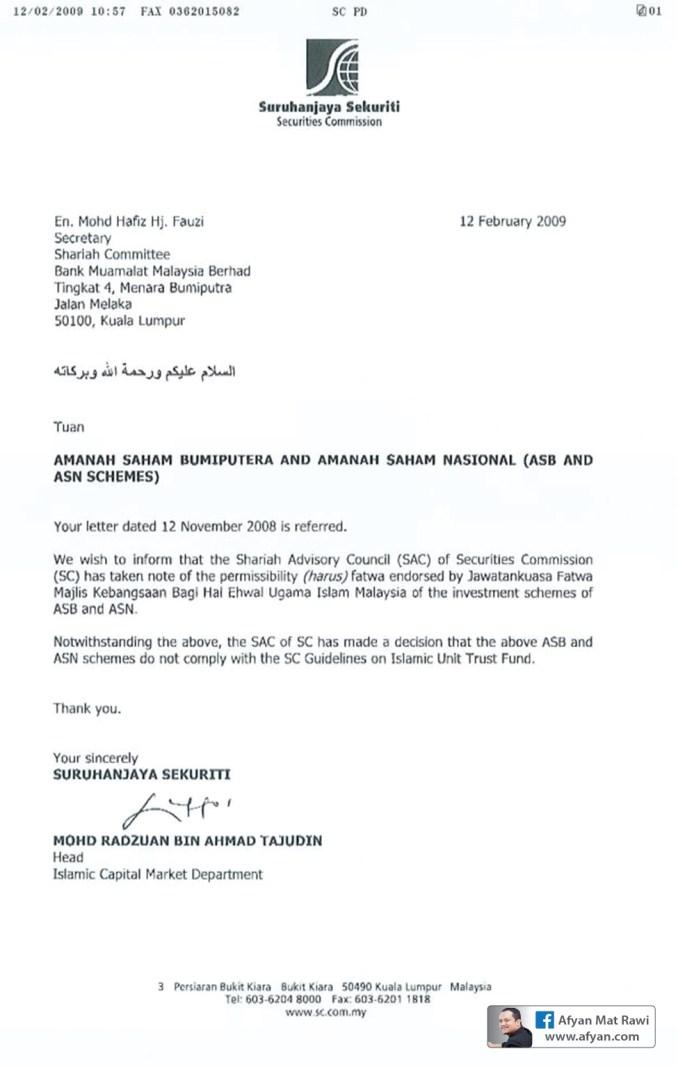 ASB Dan ASN Tidak Halal? Suruhanjaya Sekuriti vs Majlis Fatwa