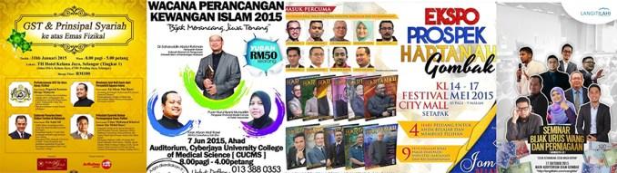 Antara program-program yang menjemput beliau sebagai speaker bersama tokoh-tokoh kewangan dan pelaburan Malaysia seperti Dr Ustaz Zaharuddin Abdul Rahman, Azizi Ali, dan lain-lain.