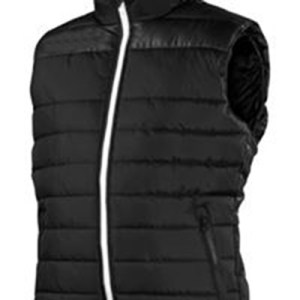 Black Winter Padded Jacket without Sleeve AFYM-7005