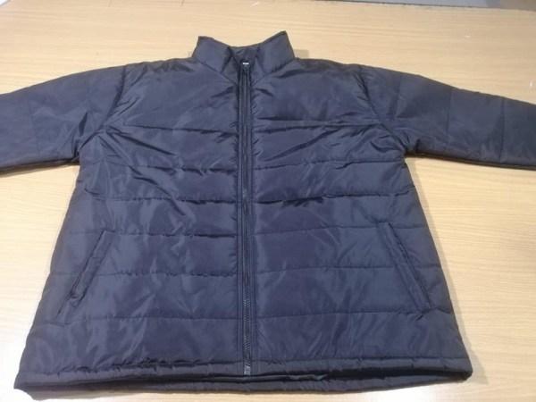 Black Winter Bubble Jacket