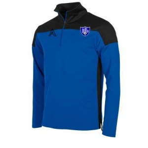 Custom Black and Blue Quarter Zip Top AFYM:3000