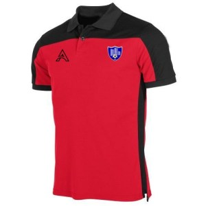 Custom Black and Red Polo Shirt AFYM-4001
