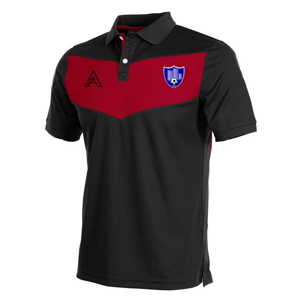 Custom Black and Red with Center Panel Polo Shirt AFYM-4003